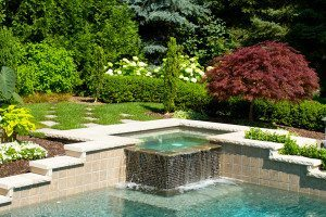 Choose pool water features