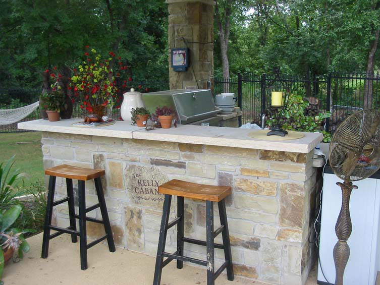 Building the outdoor kitchen seahorse pools for Building an outdoor kitchen