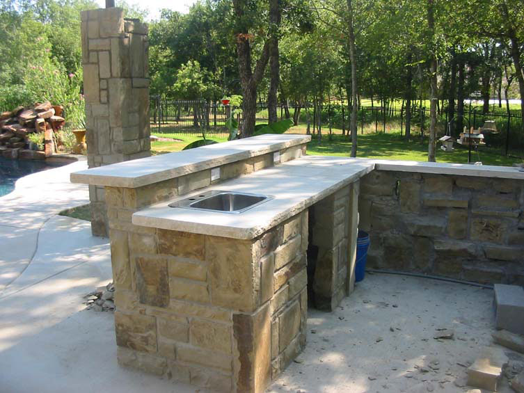 building the outdoor kitchen seahorse pools