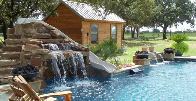 Would your pool benefit from a waterfall?