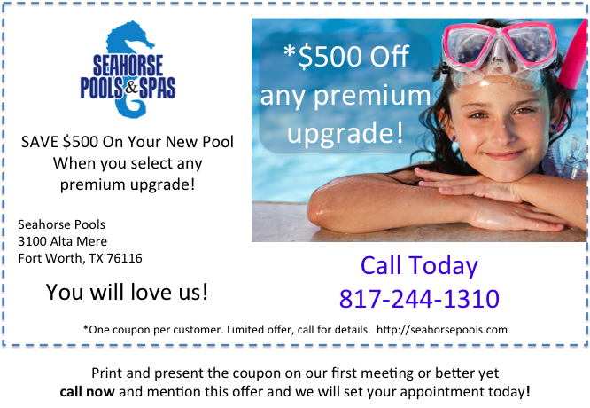New Pool Money Saving Coupon