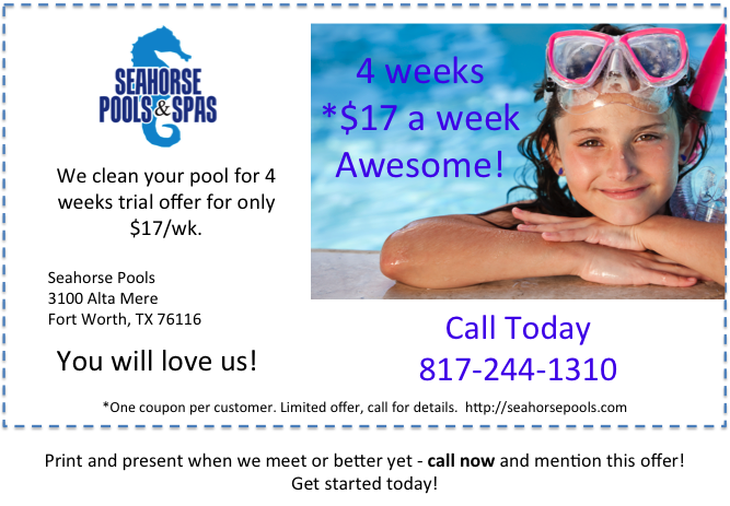 Pool Service Money Saving Coupon